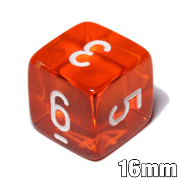 d6 - Transparent Orange dice