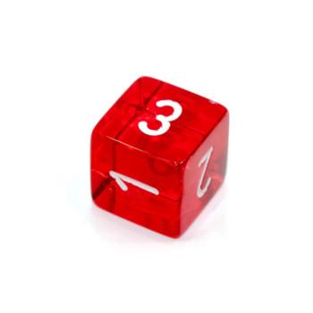 d6 - Transparent Red dice