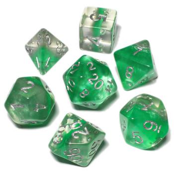 Eclipse polyhedral dice set - D&D dice - Elf King
