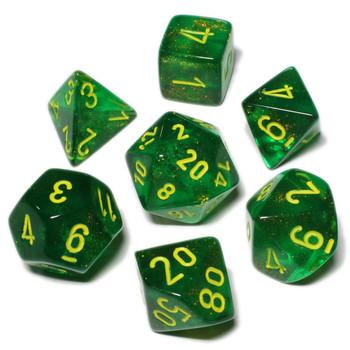 Maple Green Borealis dice set - DnD dice