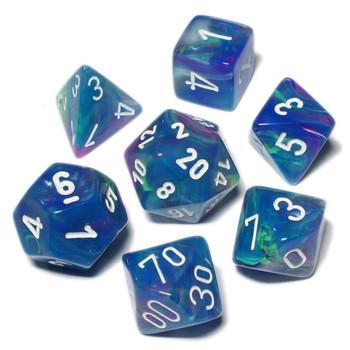 Festive Waterlily dice set