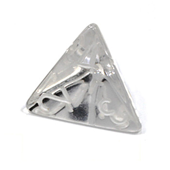 d4 - Transparent clear 4-sided dice