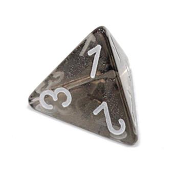 d4 - Transparent smoke 4-sided dice