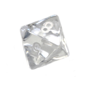 d8 - Transparent clear 8-sided dice