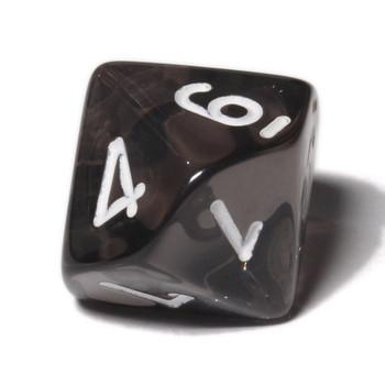 d10 - Transparent smoke 10-sided dice