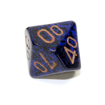 d10 Tens dice - Speckled Golden Cobalt