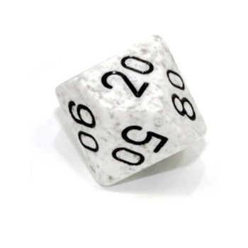 d10 tens dice for percentile rolls - Speckled Arctic Camo