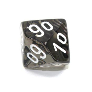 d10 - Transparent smoke 10-sided tens dice