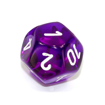 d12 - Transparent purple 12-sided dice