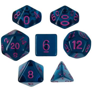 Argon Ocean dice set  for D&D, Pathfinder, etc