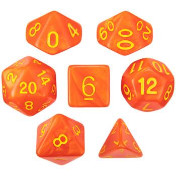 Flamekeeper D&D dice set