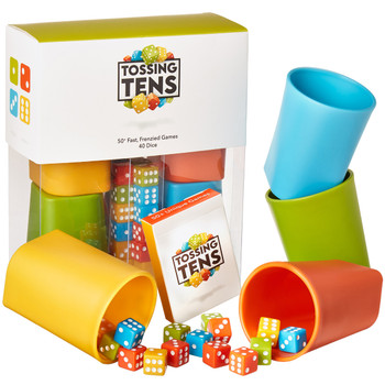 Tossing Tens dice cups edition