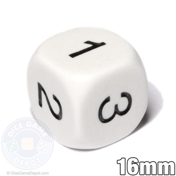 Math Dice - Numbers 1-3