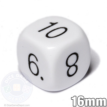 Math dice - Numerals 5-10