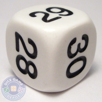 Math dice - 25-30