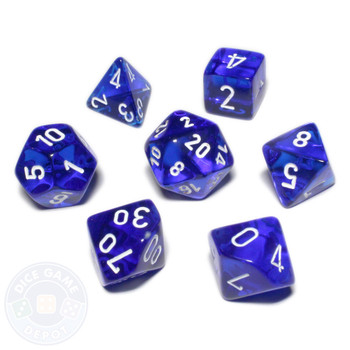 Dice set - Transparent blue
