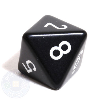Black 8-sided dice