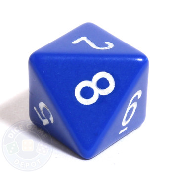 d8 - Blue 8-sided dice