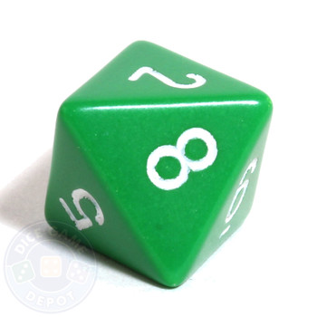 d8 - Green 8-sided dice