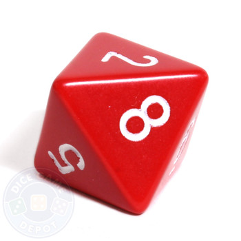 d8 - Red 8-sided dice