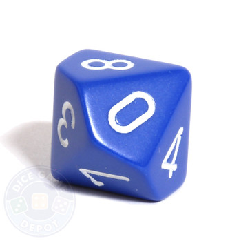 d10 - Opaque blue 10-sided dice