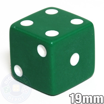 19mm Opaque Dice - Green