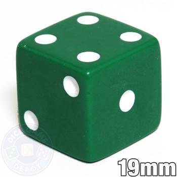 19mm Opaque Dice - Green