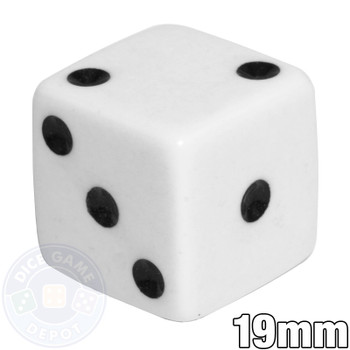 Opaque Dice - White 19mm d6