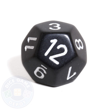d12 - Black opaque 12-sided dice