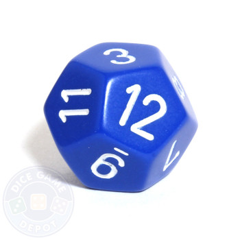 12-sided dice - Opaque blue