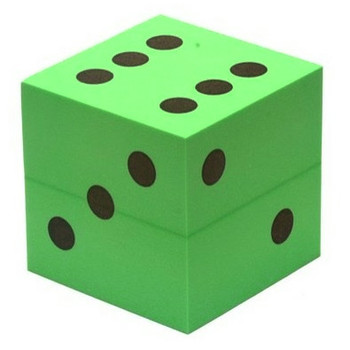 Foam dice - 100mm - Green