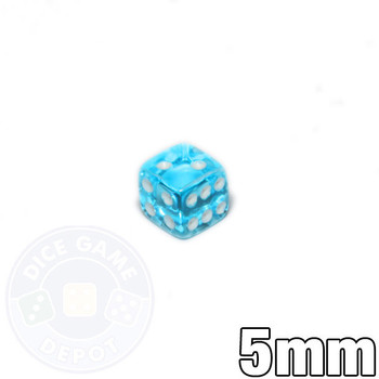 5mm transparent aqua dice