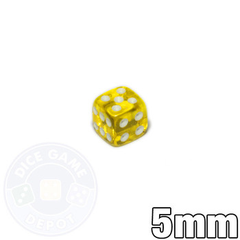 5mm transparent yellow dice