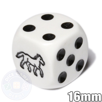 Horse dice - 6-sided white