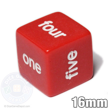 Word number dice - Red