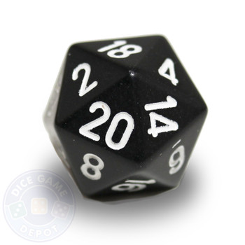 20-sided dice - Black