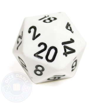 20-sided dice - White