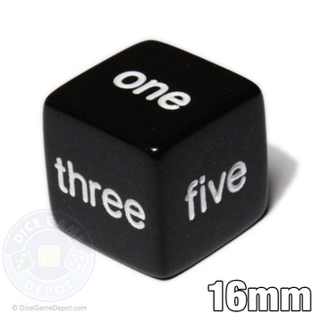 Word number dice - Black