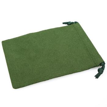 Small green dice bag