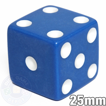 25mm Opaque Blue Dice
