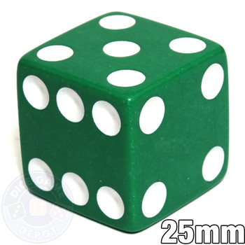 25mm Opaque Green Dice