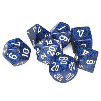 Speckled 7-piece D&D Dice Set - Stealth