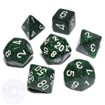 Recon Speckled D&D dice set