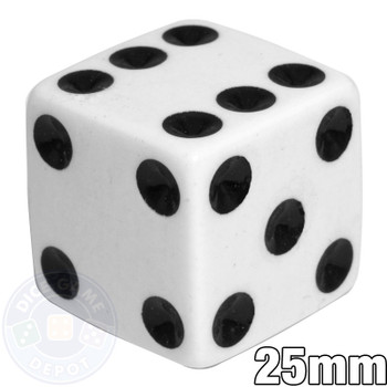25mm Opaque White Dice