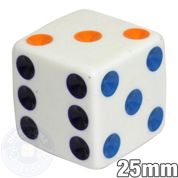 25mm dice - Multicolored spots