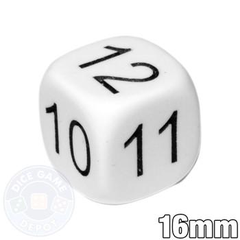 Math Number Dice - 7-12