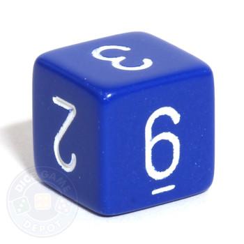 Opaque d6 - Blue