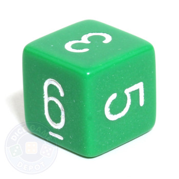 Opaque d6 - Green
