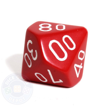 d10 percentile tens dice - Red