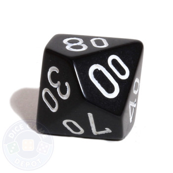 d10 percentile tens dice - Black